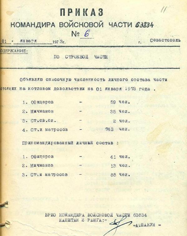 приказ командира части