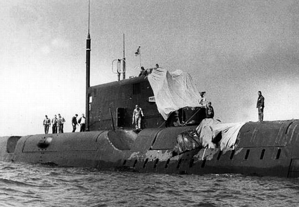 столкновение подводных лодок в баренцевом море
